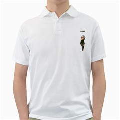 Einstein 3 Mens  Polo Shirt (White)