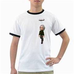 Einstein 3 Mens' Ringer T-shirt