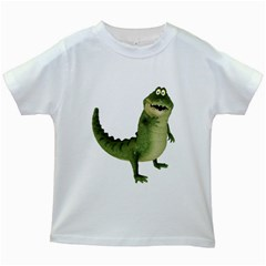 Toon Croco Kids' T-shirt (White)