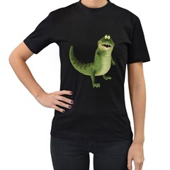 Toon Croco Womens' Two Sided T-shirt (Black)