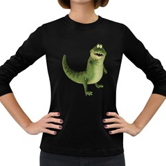 Toon Croco Womens' Long Sleeve T-shirt (Dark Colored)