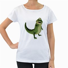 Toon Croco Womens' Maternity T-shirt (White)