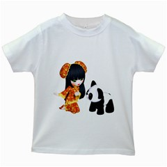 Kawaii China Girl 1 Kids' T Shirt (white)
