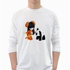 Kawaii China Girl 1 Mens' Long Sleeve T Shirt (white)