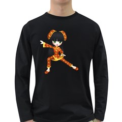 Kawaii China Girl 2 Mens' Long Sleeve T Shirt (dark Colored)