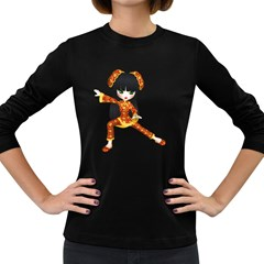 Kawaii China Girl 2 Womens' Long Sleeve T-shirt (Dark Colored)