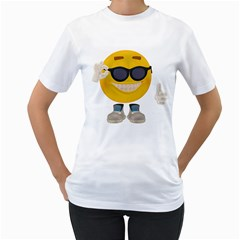 Holiday Smiley Womens  T-shirt (White)