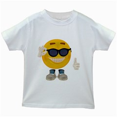 Holiday Smiley Kids' T-shirt (White)
