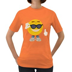 Holiday Smiley Womens' T Shirt (colored)