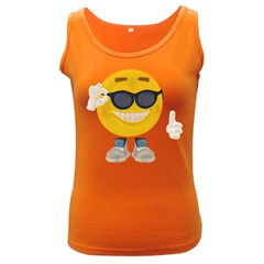 Holiday Smiley Womens  Tank Top (Dark Colored)