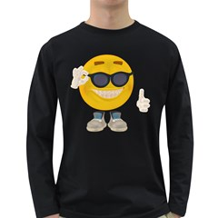 Holiday Smiley Mens' Long Sleeve T-shirt (Dark Colored)