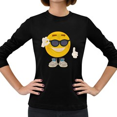 Holiday Smiley Womens' Long Sleeve T-shirt (Dark Colored)