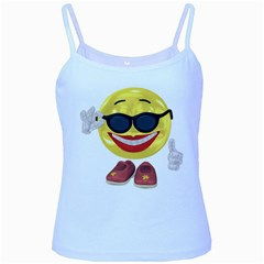 Holiday Woman Smiley Baby Blue Spaghetti Tank