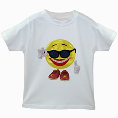 Holiday Woman Smiley Kids' T-shirt (White)