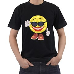 Holiday Woman Smiley Mens' Two Sided T Shirt (black)
