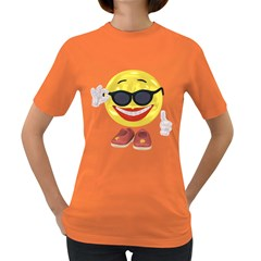 Holiday Woman Smiley Womens' T-shirt (Colored)