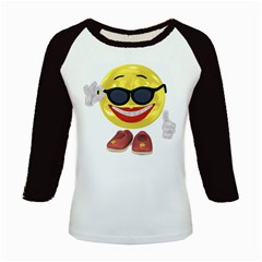 Holiday Woman Smiley Women s Long Cap Sleeve T Shirt