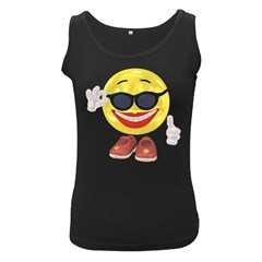 Holiday Woman Smiley Womens  Tank Top (Black)