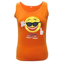 Holiday Woman Smiley Womens  Tank Top (Dark Colored)