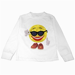 Holiday Woman Smiley Kids Long Sleeve T-Shirt