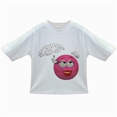 Umbrella Smiley Baby T-shirt