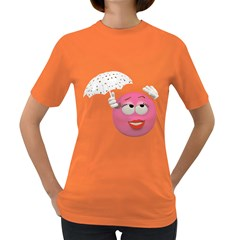 Umbrella Smiley Womens' T-shirt (Colored)