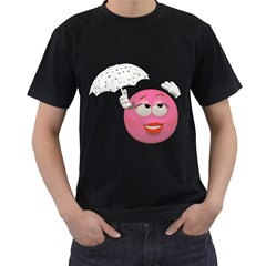 Umbrella Smiley Mens' T-shirt (Black)