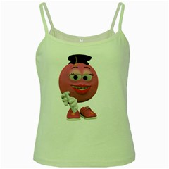 Graduate Smiley Green Spaghetti Tank