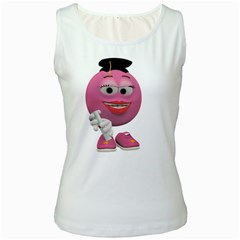 Graduate Smiley Womens  Tank Top (white)