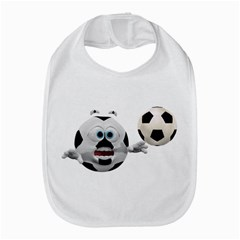 Soccer Smiley Bib
