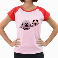 Soccer Smiley Women s Cap Sleeve T-Shirt (Colored)