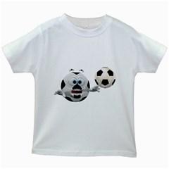 Soccer Smiley Kids' T-shirt (White)