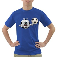 Soccer Smiley Mens' T-shirt (Colored)