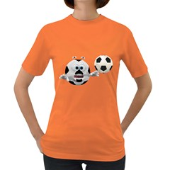 Soccer Smiley Womens' T-shirt (Colored)
