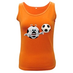 Soccer Smiley Womens  Tank Top (Dark Colored)