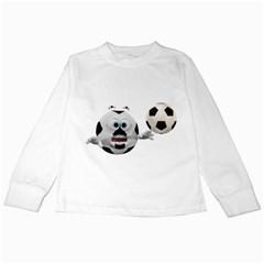 Soccer Smiley Kids Long Sleeve T Shirt