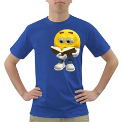 Book Smiley Mens' T Shirt (colored)