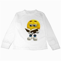 Book Smiley Kids Long Sleeve T-Shirt