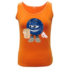 Beer Smiley Womens  Tank Top (Dark Colored)