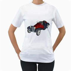 Old Timer Womens  T-shirt (White)