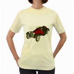 Old Timer  Womens  T Shirt (yellow)