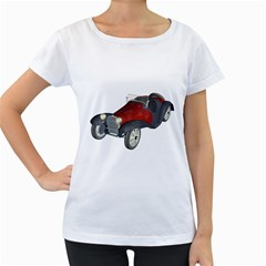 Old Timer Womens' Maternity T Shirt (white)