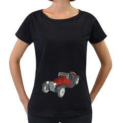 Old Timer Womens' Maternity T Shirt (black)