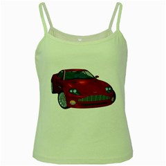 Red Sport Car 1 Green Spaghetti Tank