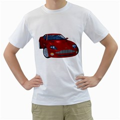Red Sport Car 1 Mens  T Shirt (white)