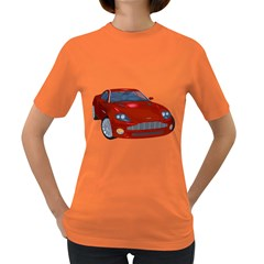 Red Sport Car 1 Womens' T-shirt (Colored)