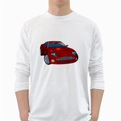 Red Sport Car 1 Mens' Long Sleeve T-shirt (White)