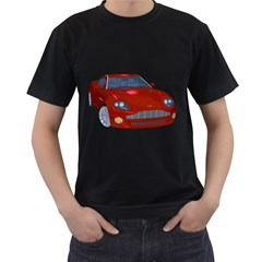 Red Sport Car 1 Mens' T-shirt (Black)