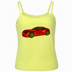 Red Sport Car 2 Yellow Spaghetti Tank