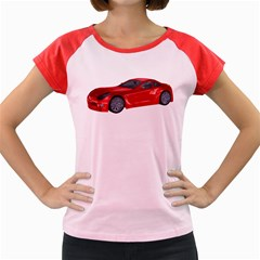 Red Sport Car 2 Women s Cap Sleeve T Shirt (colored)